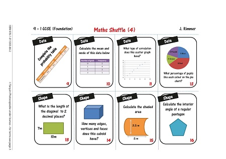 Revise for Success GCSE - Shuffle Cards