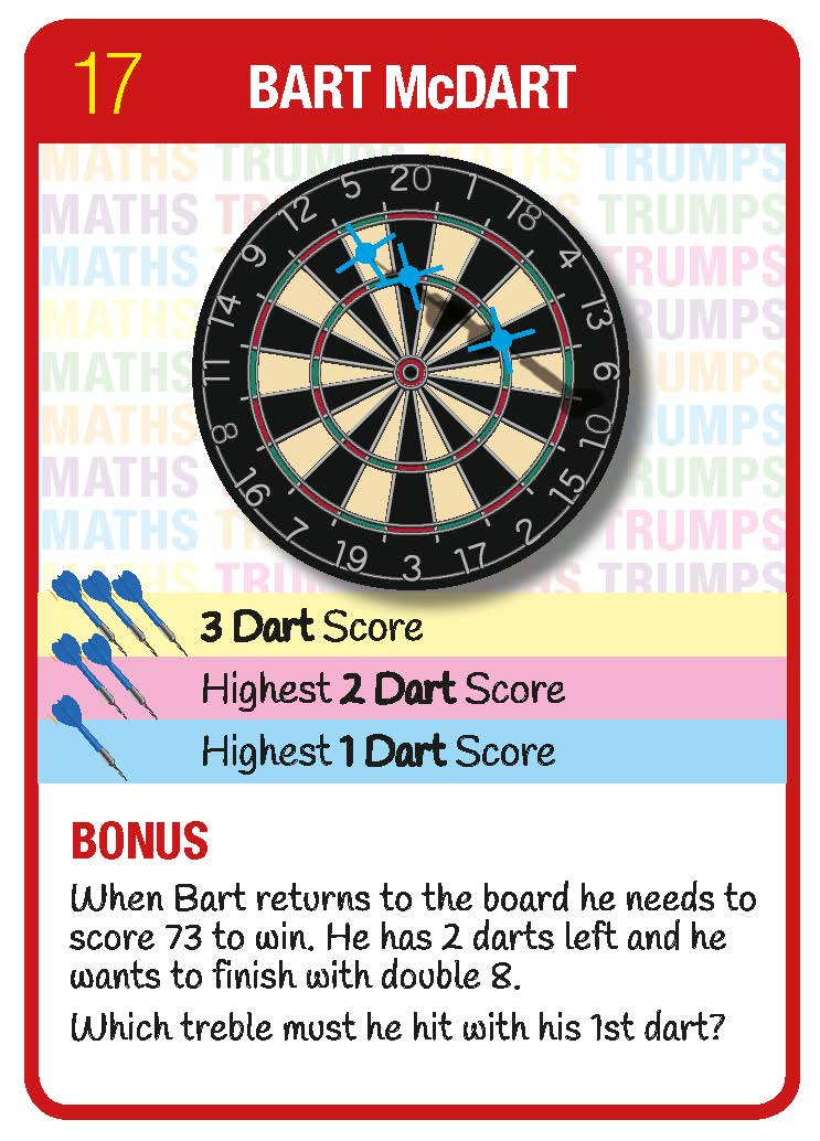 Darts Question Card