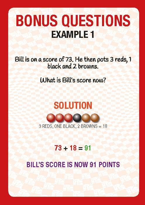 Snooker Explanation Card